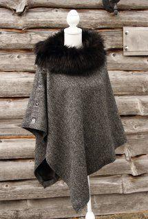Harriet Hoot Harris Bespoke Harris Tweed & Faux Fur Cape