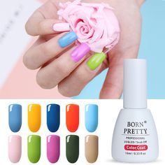 BORN PRETTY Candy Color Nail UV Gel 10ml Soak Off Color Coat Color of the Year 2017 Manicure Nail Art Gel Polish
