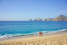 Medano Beach with views of Land's End in Cabo San Lucas, Mexico.