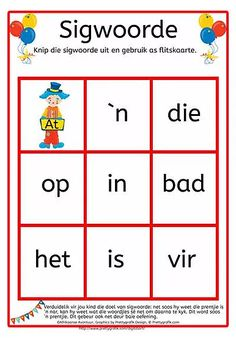 'n Afrikaanse Lees- en skryfprogram vir tuisskolers of onderwysers. 'n Afrikaanse Lees- en skryfprogram vir graad 1 tot graad 3 Printable Activities For Kids, Preschool Learning Activities, Preschool Worksheets, Classroom Activities, Preschool Homework, Afrikaans Language, 1st Grade Worksheets, Kids Education, Special Education