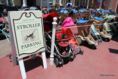 Stroller Parking in Liberty Square