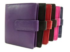 Ladies Mens High Quaility Genuine Leather Credit Card Id Holder 20 Cards