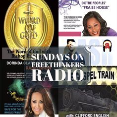 This is the day the Lord has made!! Rejoice with Us!! 4am-2pm Sunday Morning Preparations 7 & 10am Word of God with Bishop Eric Davis 5pm Dottie Peoples' Praise House 7pm The Dorinda Clark Cole Show 9pm All Saints Radio App and Website on the Pinned Post!! #freethinkersradio #weekend #turnup - facebook.com/rlwonderland