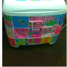 Perfect lilly ice chest can t wait to make this