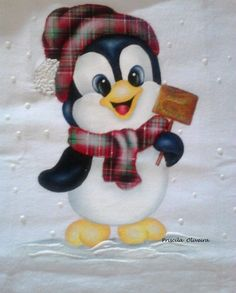 """Pano de prato """"Natal """"                                                                                                                                                                                 Mais Christmas Yard Art, Christmas Yard Decorations, Christmas Rock, Christmas Projects, Holiday Crafts, Christmas Time, Christmas Ornaments, Tole Painting, Fabric Painting"""
