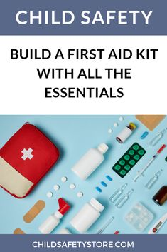 Build a First Aid Kit With All the Essentials A curious child, or a baby who is just starting to crawl or walk. Safety Kit, Baby Safety, Child Safety, Home Safety Tips, Essential First Aid Kit, The Essential, Emergency First Aid, Asthma Symptoms, How To Find Out