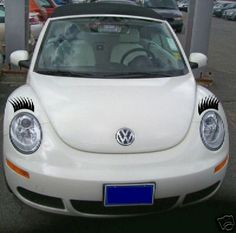 EYE LASHES VW Volkswagon Bug Beetle, mini cooper, Decal Accessories.  http://www.ebay.com/itm/EYE-LASHES-VW-Volkswagon-Bug-Beetle-mini-cooper-Decal-Accessories-/200838141009?pt=Motors_Car_Truck_Parts_Accessories=mtr=item2ec2e2d451