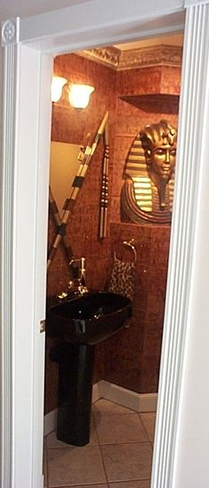 Egyptian 1 2 bath ideas for the house pinterest bath for Egyptian bathroom designs