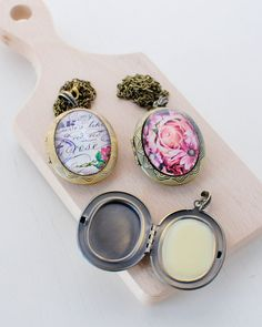DIY: essential oil solid perfume lockets