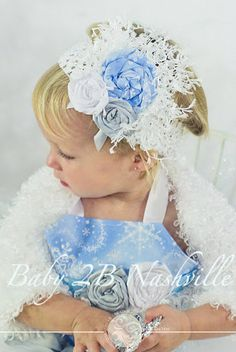 Winter Onederland Snow Princess Headband by Baby2BNashville, $22.00