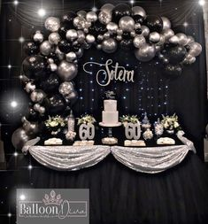 Adult Balloon Party Decoration – – - New Deko Sites Birthday Cake For Mom, Birthday Party Tables, Birthday Crafts, Birthday Balloons, Birthday Fun, Birthday Party Decorations, Birthday Ideas, Birthday Backdrop, Decoration Party