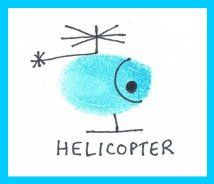 Thumbprint Helicopter...daddy would be so proud :)