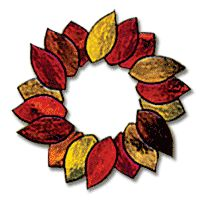Free Pattern, Fall Wreath Stained Glass  Simple. And could be modified for Christmas ornaments