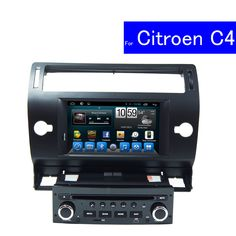 1024*600 Single Din Android Car Stereo for Citroen C4 Car Radio Multimedia Navigation System TV WIFI In Dash Car DVD Player GPS#single din android car stereo