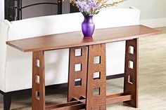 This table is an interpretation of one Charles Rennie Mackintosh designed for Hill House in Helensburgh, Scotland, ca. 1904. Though not as well known in America as Stickley or Roycroft, Mackintosh (1868-1928) was an important figure in the European Arts & Crafts movement. His work encompassed both architecture and furniture. The through-mortises and crisp, square cutouts may look diffiult, but they really are quite easy. The secret to success is in a careful glue-up.Featured in WOOD Issue…