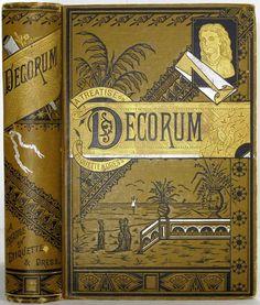 1881 Antique Etiquette Book Victorian Home Manners Dress Toilet Decorum Weddings | eBay