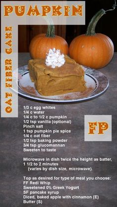 Pumpkin Cake FP - from thmtawnya on YouFood Trim Healthy Mama Plan, Trim Healthy Recipes, Healthy Moms, Mug Recipes, Pumpkin Recipes, Keto Recipes, Thm Fuel Pull, Breakfast Snacks, Fiber Foods
