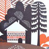 from Sanna Annukka Creative Illustration, Graphic Design Illustration, Botanical Illustration, Illustration Art, Scandinavian Pattern, Scandinavian Folk Art, Color Me Mine, Naive Art, Christmas Art