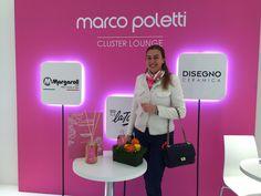 IN Barbara Bosotto nella MARCO POLETTI CLUSTER LOUNGE per DAPHNE  #marcopoletticluster Salone del Mobile.Milano #profumocluster