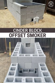 Cinder Block Smoker - SHTFPreparedness - Cinder Block Offset Smoker – You will find step by step directions on how to build and use this o - Build A Smoker, Diy Smoker, Bbq Pit Smoker, Backyard Smokers, Outdoor Smoker, Homemade Smoker Plans, Outdoor Kitchen Bars, Backyard Kitchen, Backyard Bbq
