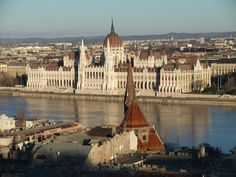 Budapest, parliament building is right on the water?!