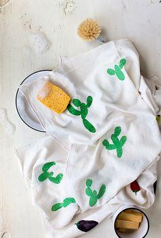 Cactus Tea Towel on Say Yes