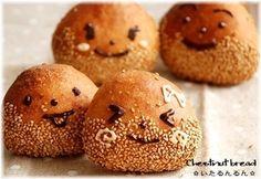 マロン一家のマロンパン。marron bun