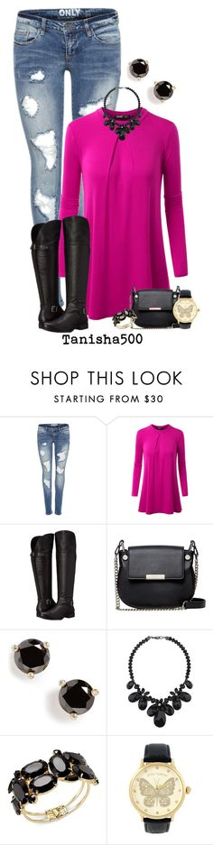"""Skinny Jeans and Riding Boots!:)"" by tanisha500 ❤ liked on Polyvore featuring Naturalizer, French Connection, Kate Spade, Wallis, Thalia Sodi and Betsey Johnson"