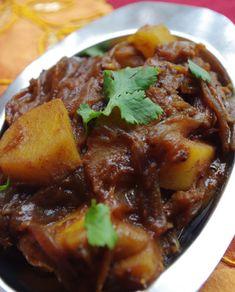 Aloo massala : pommes de terre aux oignons confits et épices - Pankaj blog - Vegan recipe - Recette végétalienne