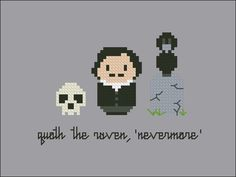 Edgar Allan Poe Nevermore Cross stitch PDF by cloudsfactory