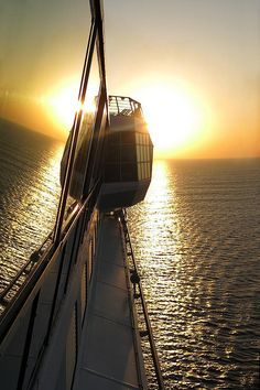 See the sun set over the Red Sea from the deck of Mariner of the Seas.