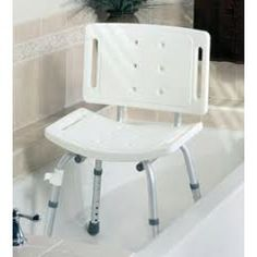 Basic Shower Chair with Back - Price ( MSRP: $ 86.93Your Price: $55.23Save up to 36% ). http://www.discountmedicalsupplies.com/store/bath-and-shower-safety/showers-stools-seats/basic-shower-chair-with-back.html