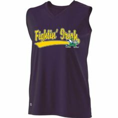 SLEEVELESS V-NECK NOTRE DAME FIGHTING IRISH Girls Curve Dry-Excel Licensed NCAA College Replica Jersey (Youth & Adult Sizes, Intended for Team Sales) by Holloway Authentic Sports Shop. $19.95. Dry-Excel Fresh Micro-Interlock Polyester. Heat Transferred Official NCAA College Replica Logos. Ladies Sleeveless Self-Fabric V-neck Collar. Intended for Team Sports. Performance Product with Wicking and Odor Resistant. SLEEVELESS V-NECK NOTRE DAME FIGHTING IRISH Girls Curve D...
