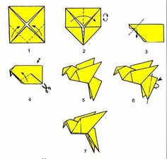 Easy Origami Bird Base Instructions #4                                                                                                                                                                                 More
