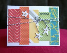 card by Shelly Nemitz using CTMH Dotty For you paper