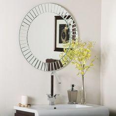 822375944c70 Amazon.com  Decor Wonderland The Glow Modern Frameless Wall Mirror  Home    Kitchen