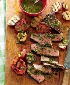 Steak with Argentine Herb Sauce | This is the perfect meal for a Saturday evening with friends or a Sunday family lunch. | From: goodhousekeeping.co.za - { Casey in the Clouds }
