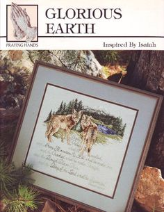 Glorious Earth Counted Cross Stitch Leaflet by Praying Hands Cross Stitch. 1996 by XtraThings on Etsy