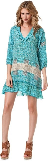 TOLANI MART TUNIC DRESS $128.00  I love LOVE love the elephants in the waist band pattern!
