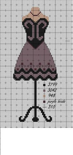 point de croix robe- cross-stitch dress