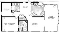 Jacobsen Homes offers spacious and affordable 1000 sq ft to 1199 sq ft Manufactured and Mobile Homes in a variety of floor plans. View our 1000 to 1199 sq ft Floor Plans today! 2 Bedroom Floor Plans, Mobile Home Floor Plans, Cottage Floor Plans, Cabin Floor Plans, Cottage Plan, Cottage Living, 3d House Plans, Model House Plan, Duplex House Plans
