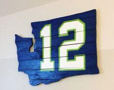 Seattle Seahawks 12s pallet wall art by LJsPallets on Etsy