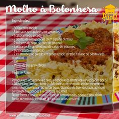 Pasta à Bolonhesa Link: https://youtu.be/VbOJ_lG3Cus