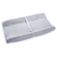 Wendy Bellissimo Unisex Contoured Changing Pad Cover in Pearl Grey - buybuyBaby.com
