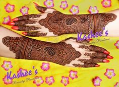kashee's mehendi design 2015 For Bride