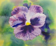 Pansy: watercolour video lesson by Gilly Marklew available now on www.ArtTutor.com