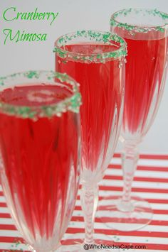 Cranberry Mimosa - Merry Christmas to me!