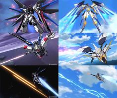 FAN MADE FAN ART ANIME & MANGA, Freedom Gundam (Gundam Seed) with Villkiss (Cross Ange)