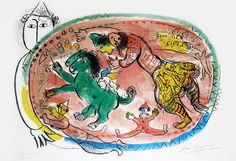 From Masterworks Fine Art, Marc Chagall, Le Cercle Rouge (The Red Circle), 1966 Color Lithograph on Arches Paper, 30 × 21 in Marc Chagall, Chagall Prints, Chagall Paintings, Horse Posters, Frank Stella, Artist Art, Find Art, Les Oeuvres, Artwork