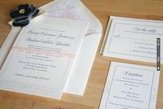 Lace Wedding Invitations by | VIA #WEDDINGPINS.NET
